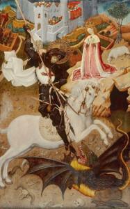 Sant Jordi, Bernat Martorell. 15th C.