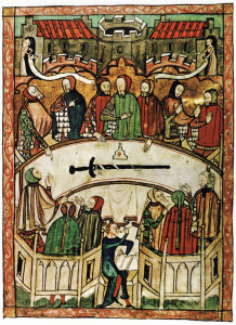 Painting of the League of the Holy Court, circa 1375. Public domain in the US