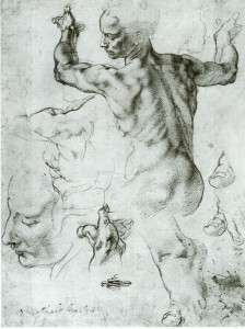 Michelangelo – Sketch for Sistine Chapel