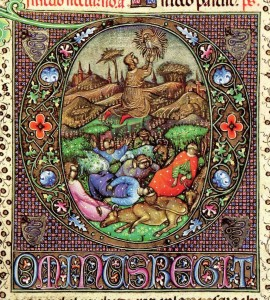 Elaborate piece from the Visconti Hours