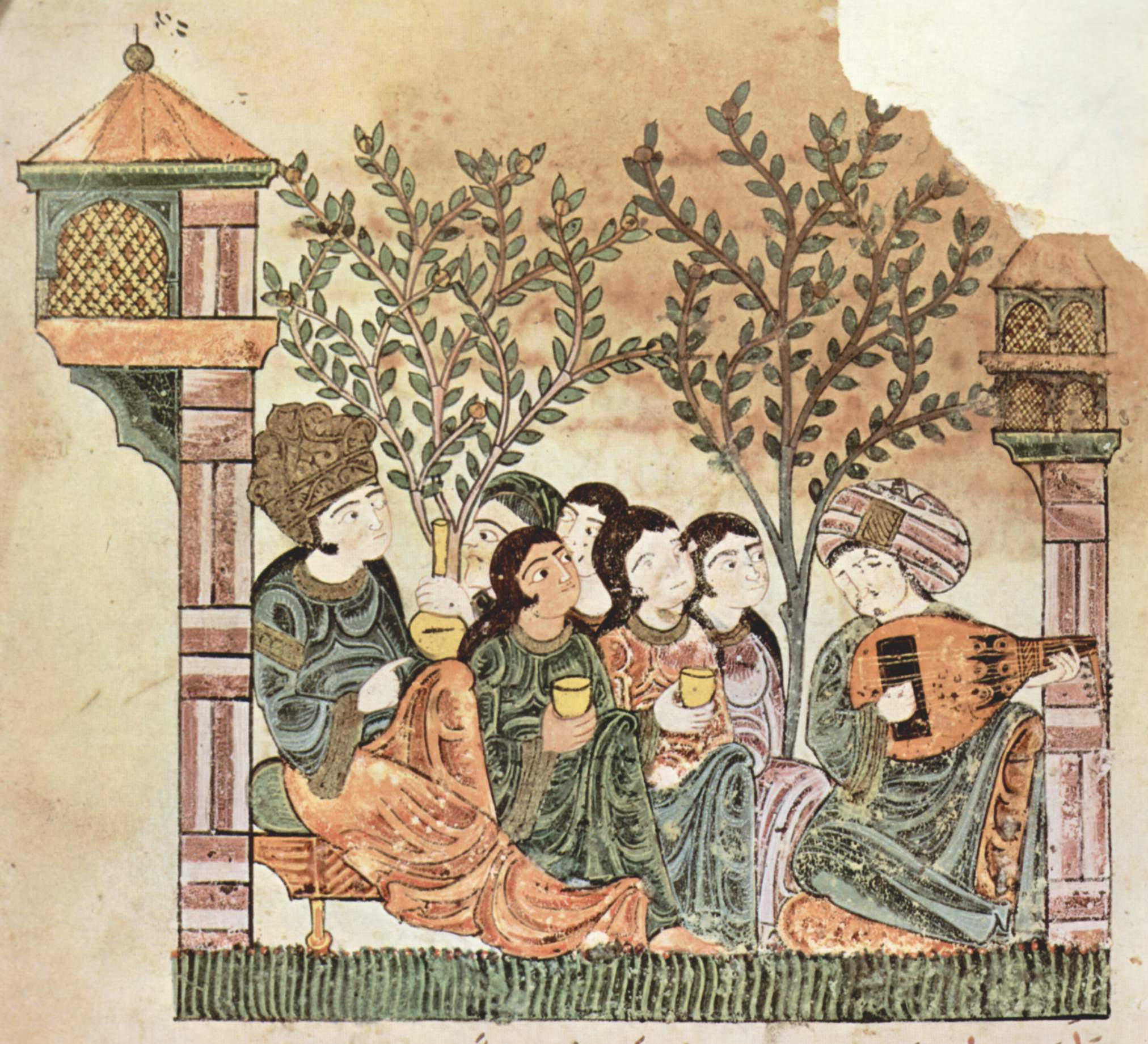 "The Story of Bayad and Riyâd (""hadeeth Bayad to Riyâd""), 13th C.,  Public domain worldwide"