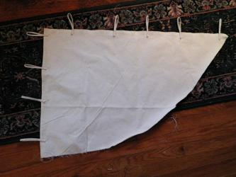 My canvas blank. This will eventually become a Norseman's weathervane-type banner.