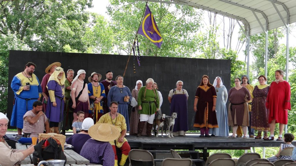 Calontir singing at 50th Year