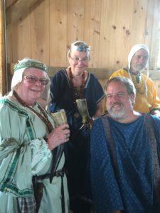 Mistress Morgana bro Morganwyg, Countess Diana Listmaker, Master Andrixos Seljukroctonis and Duke Henrik of Havn