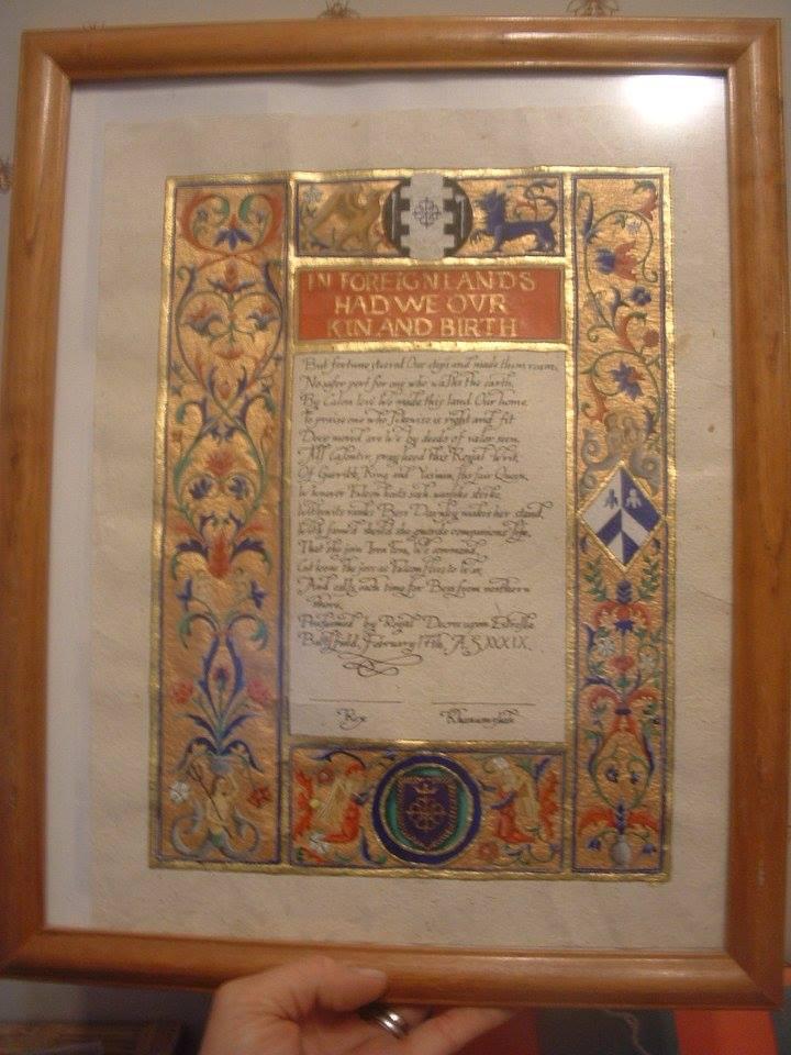 Iren Fera scroll for Elizabeth Darnley