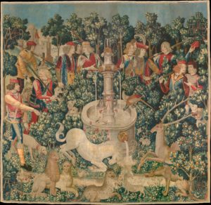 The Unicorn is Found (from the Unicorn Tapestries) 1495–1505, The Met Museum. CC0 license.
