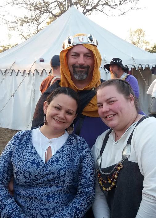 <i>Left</i>: Her Grace Catalina de Arazuri; <i>Center:</i> His Excellency Duncan Fearmac MacLeod; <i>Right:</i> Her Ladyship Miranda Logansdottir